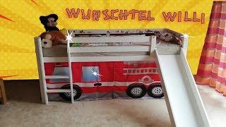 Holz-Hochbett und Rutsche bauen mit wurschtel Willi 🛠️ Kids Video 🧰 Kinderfilm  👶