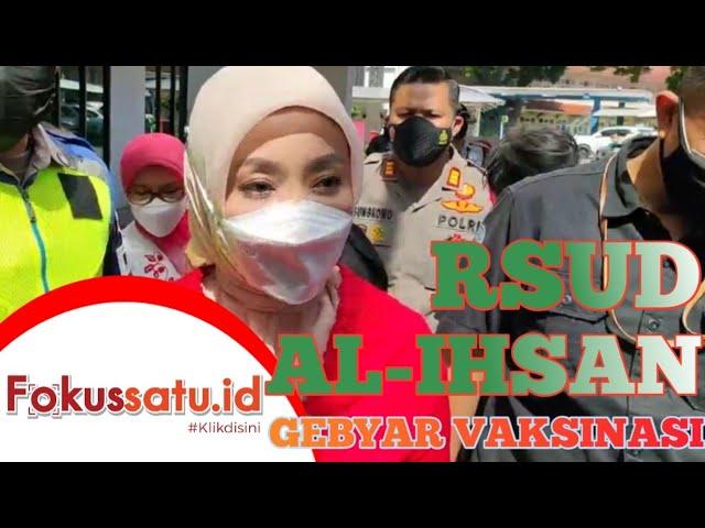 RSUD Al-Ihsan Gebyar Vaksinasi Ibu Hamil, Menyusui, Istri Gubernur Jabar Tinjau Langsung ||(260821)
