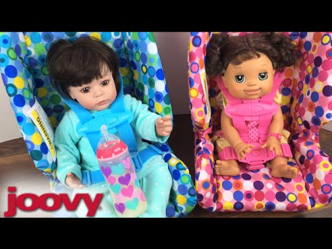 Joovy Pink And Blue Toy Booster Seat Unboxing And Trying