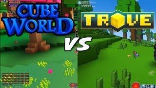 Cube World vs Trove - Gameplay Comparison