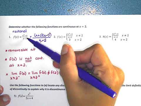 AP Calculus AB Section 2.3 Day 2 Video