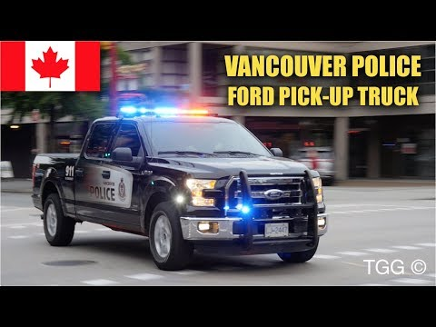 *RARE* [Vancouver Police] Ford Pickup + Dodge Chargers Responding Siren & Lights