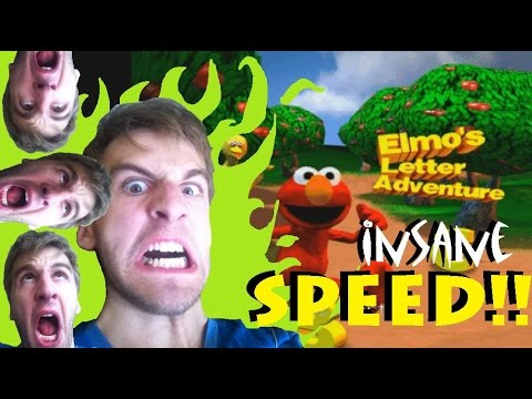 Elmo's Letter Adventure Insane Mode Speedrun - Nintendo 64