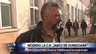 INCENDIU LA C.N. ,,IANCU DE HUNEDOARA