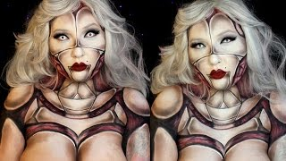 Pinup Anatomical Robot Halloween Makeup Tutorial | Jordan Hanz