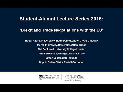 Brexit and Trade Negotiations with the EU (Session 1/3)