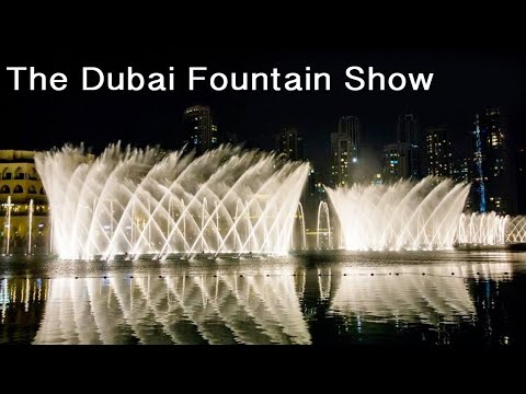 Dubai mall fountain show Burj khalifa