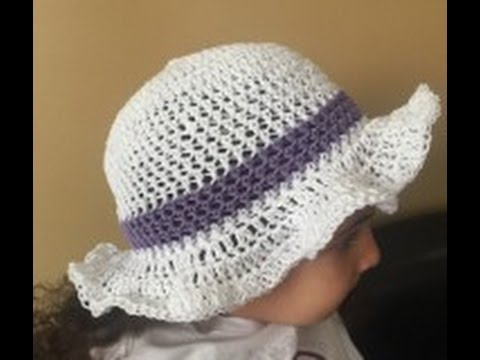 Diy How To Crochet An Easter Or Spring Hat Youtube