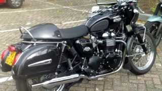 Goldwing with sidewheels ! Matchless G80 Bobber bike Motormarkt Hardenberg 10.2013