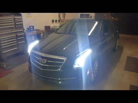 2016 Cadillac ATS Custom Headlight Projector Swap + Strip Installed