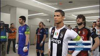 Juventus vs PSG I Ronaldo and Buffon Debut I PES 2018 Gameplay