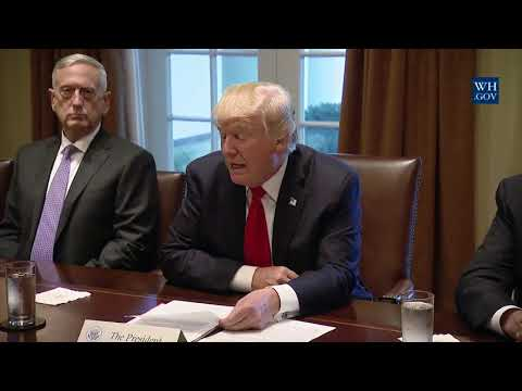 Remarks: Donald Trump at a Briefing With Senior Military Leaders - October 5, 2017