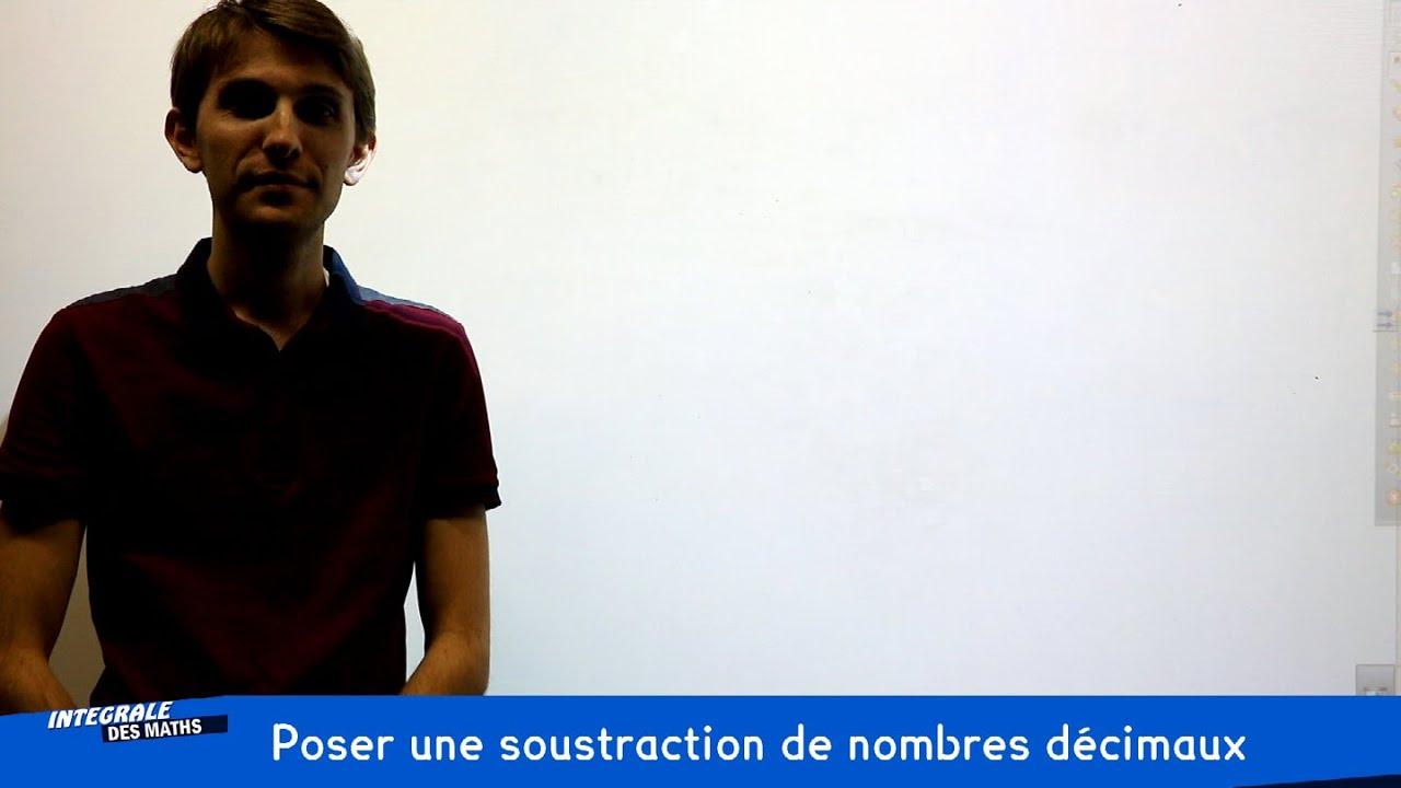Poser une soustraction de nombres d cimaux youtube for Poser une soustraction