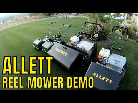 ALLETT CYLINDER REEL MOWER demo