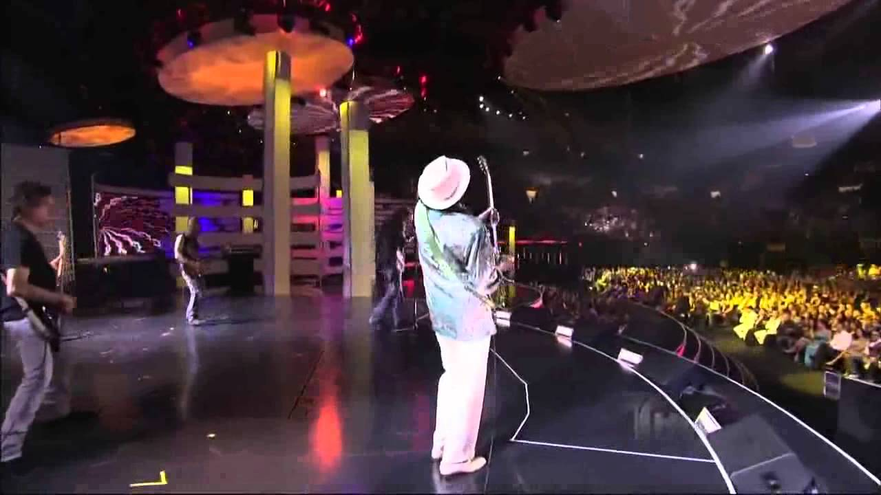 Carlos Santana Mana Corazon Espinado Miami Beach 2009 Youtube
