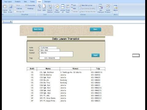 Tutorial Cara Membuat Apk Excel Macro - Seri Penjualan (sub Database) Secara Mudah