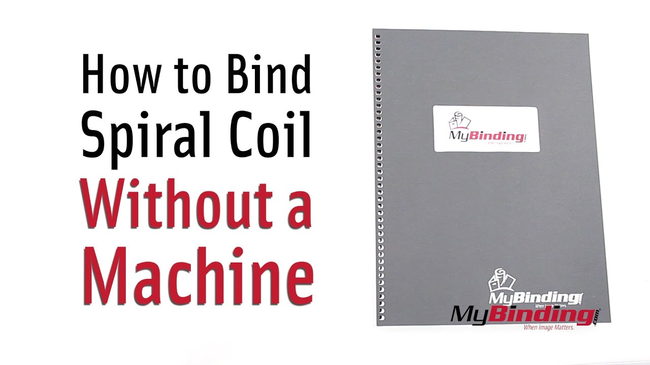 How to bind spiral coil without a machine youtube how to bind spiral coil without a machine solutioingenieria Image collections