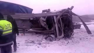 Авария на трассе М5 Урал в Челябинской области.