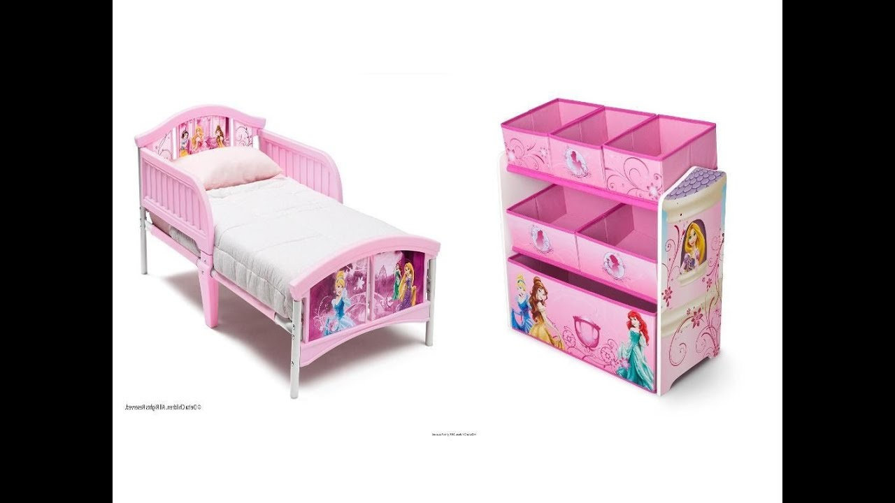 Disney Princess Toddler Bed   YouTube