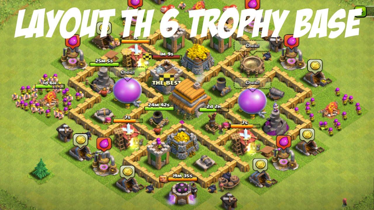 Base Coc Th 6 Trophy 11