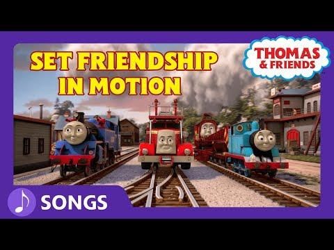Set Friendship in Motion (Let's Go!) | Steam Team Sing Alongs | Thomas & Friends