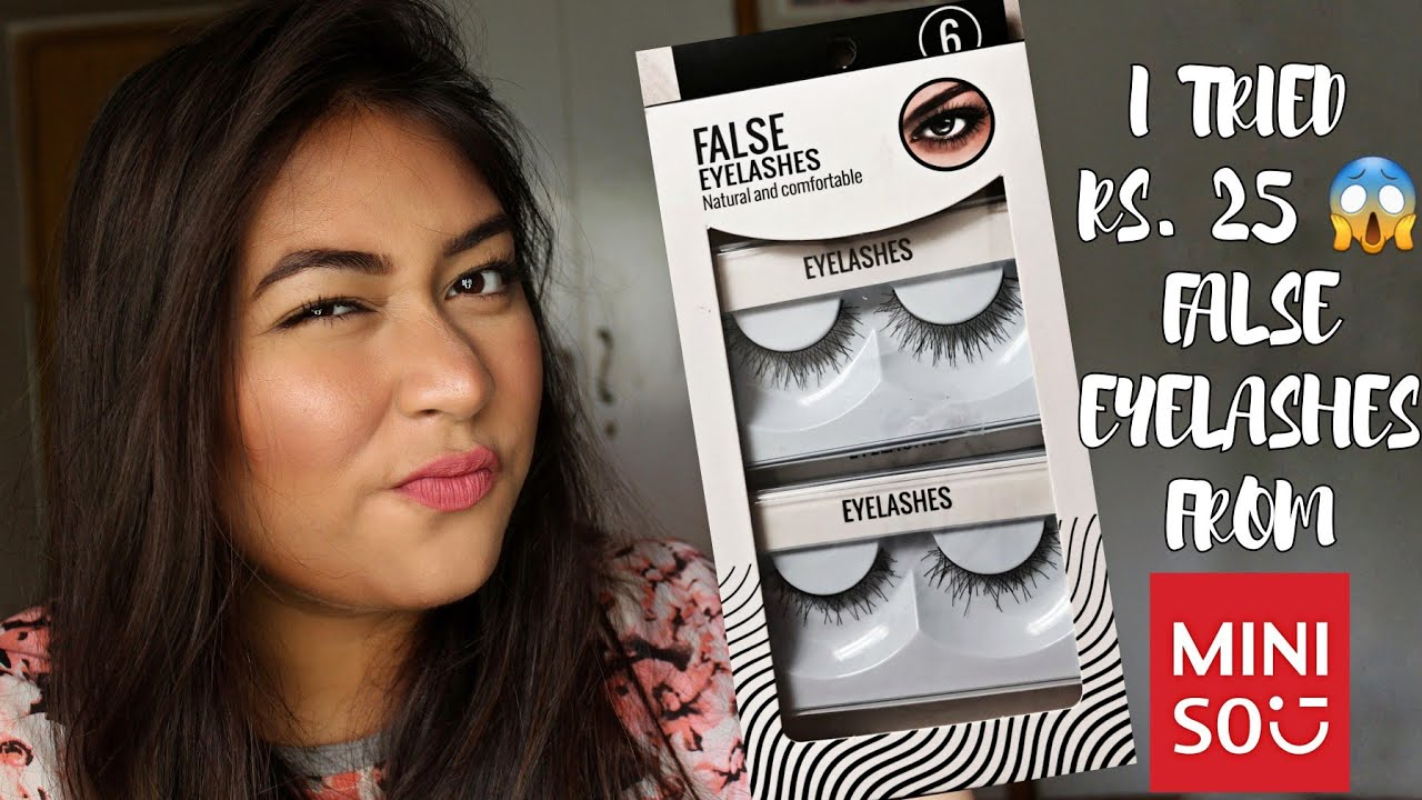 f6926d7f80b Trying cheapest false eyelashes from Miniso || Is it really worth? ||  Review & Demo || Adity Singh