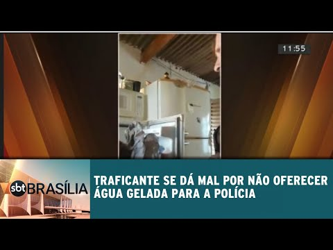 Traficante se dá mal ao não oferecer água gelada para a polícia | SBT Brasília 18/07/2018