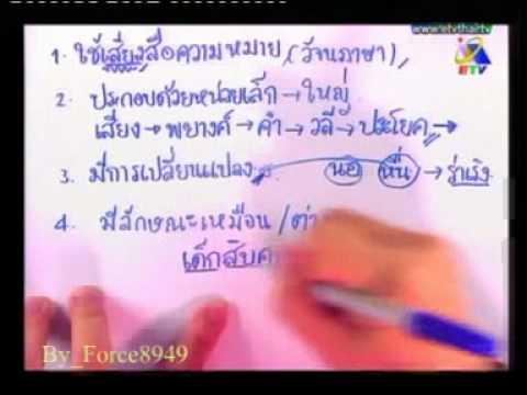 ติวเข้มเติมเต็มความรู้ ภาษาไทย เทคนิคการทำข้อสอบ อ วรธน อนันตวงษ์ Force8949 1of4