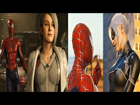 Spider-Man PS4 Silver Lining DLC - All Silver Sable & Black Cat Cutscenes