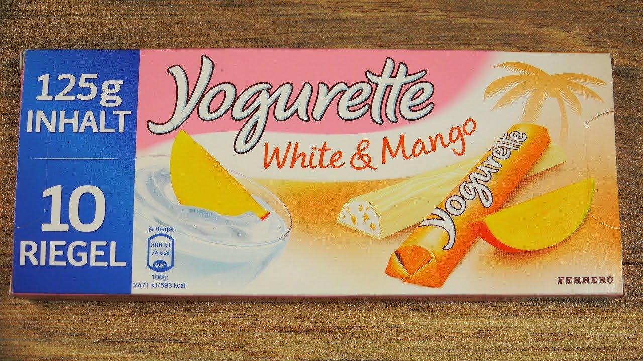 Yogurette White Mango Ferrero Youtube