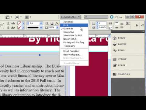 InDesign CS5.5: Creating Poster Sessions
