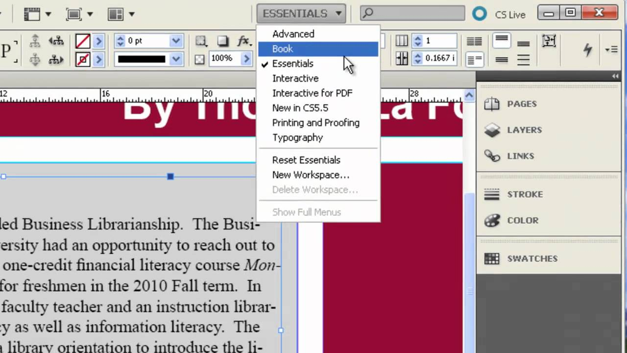 indesign cs5 5 creating poster sessions youtube rh youtube com