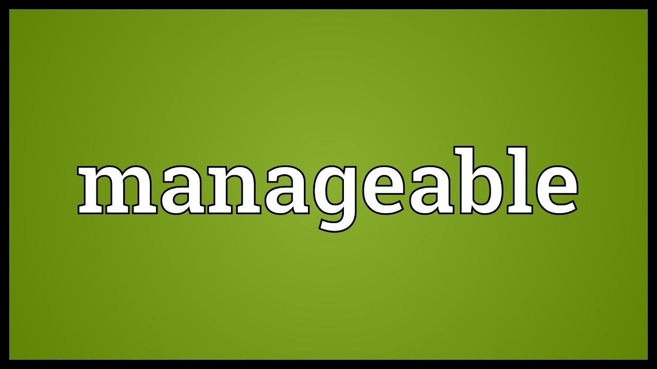Manageable Meaning