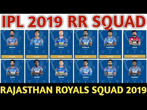 IPL 2019 Rajasthan Royals Team Squad | RR Confirmed And Final Team Squad 2019 | RR Players List 2019