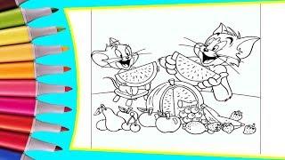 РАСКРАСКИ! Раскрашиваем картинки для детей из мультфильмов Том и Джери