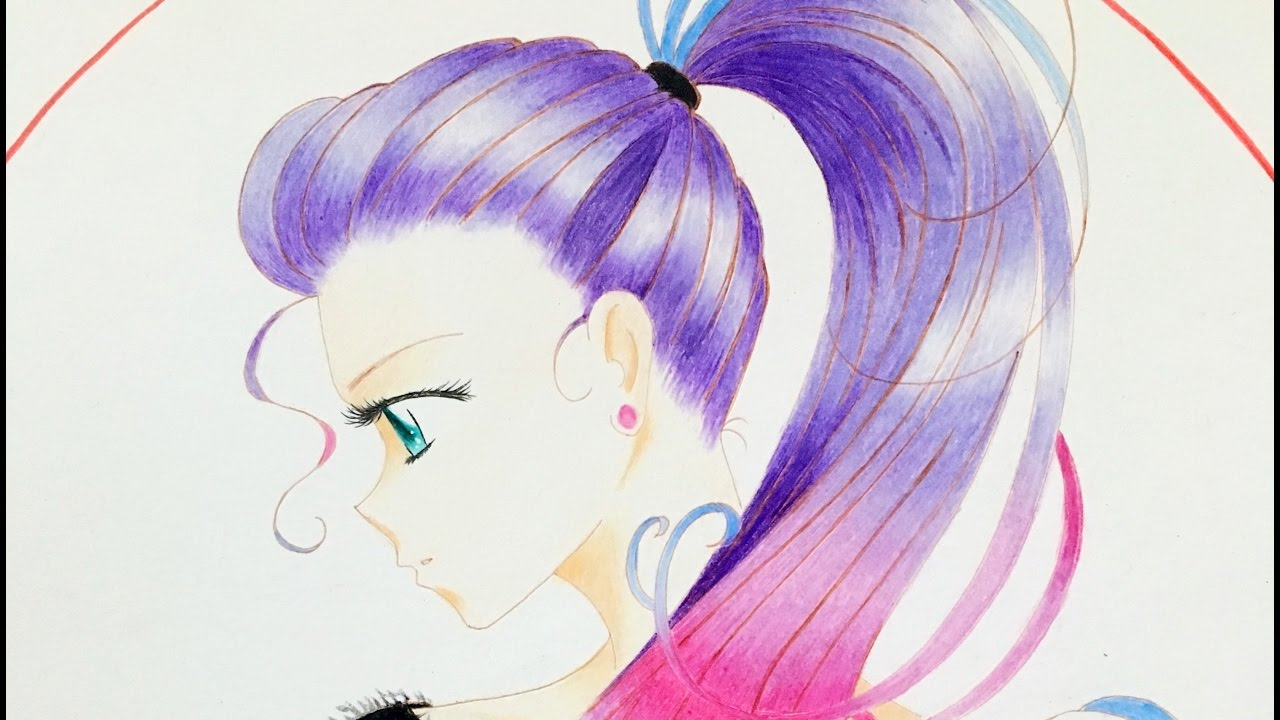 Colored Pencils Anime Drawing - YouTube