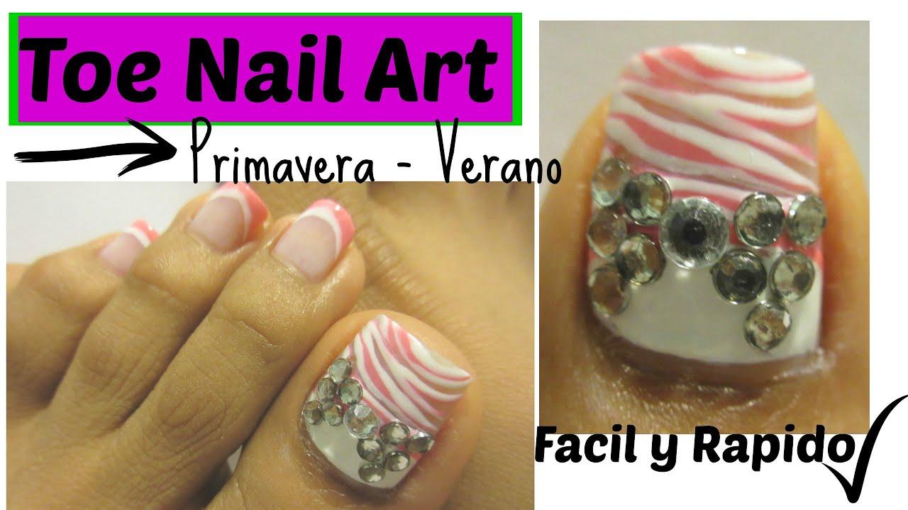 Como pintar las uñas de los pies para la primavera-verano /Spring ...