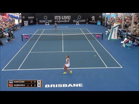 Kontaveit vs Sasnovich Match Highlights (R2)   Brisbane International 2018