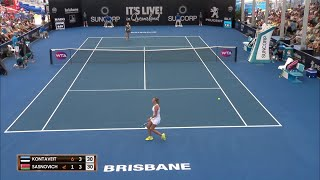 Kontaveit vs Sasnovich Match Highlights (R2) | Brisbane International 2018