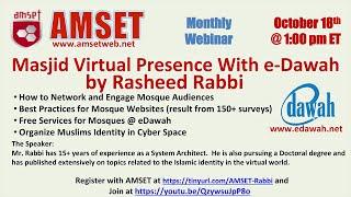 ISNA-AMSET webinar on Masjid virtual presence (e-Dawah)