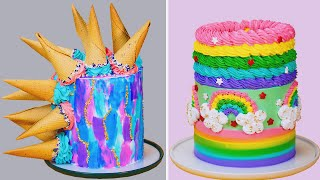 My Favorite Rainbow Cake Videos | Delicious Colorful Cake Decorating | Yummy Cake Recipes Ideas
