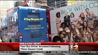 Double-Decker Tour Bus Driver In Times Square Crash Arrested