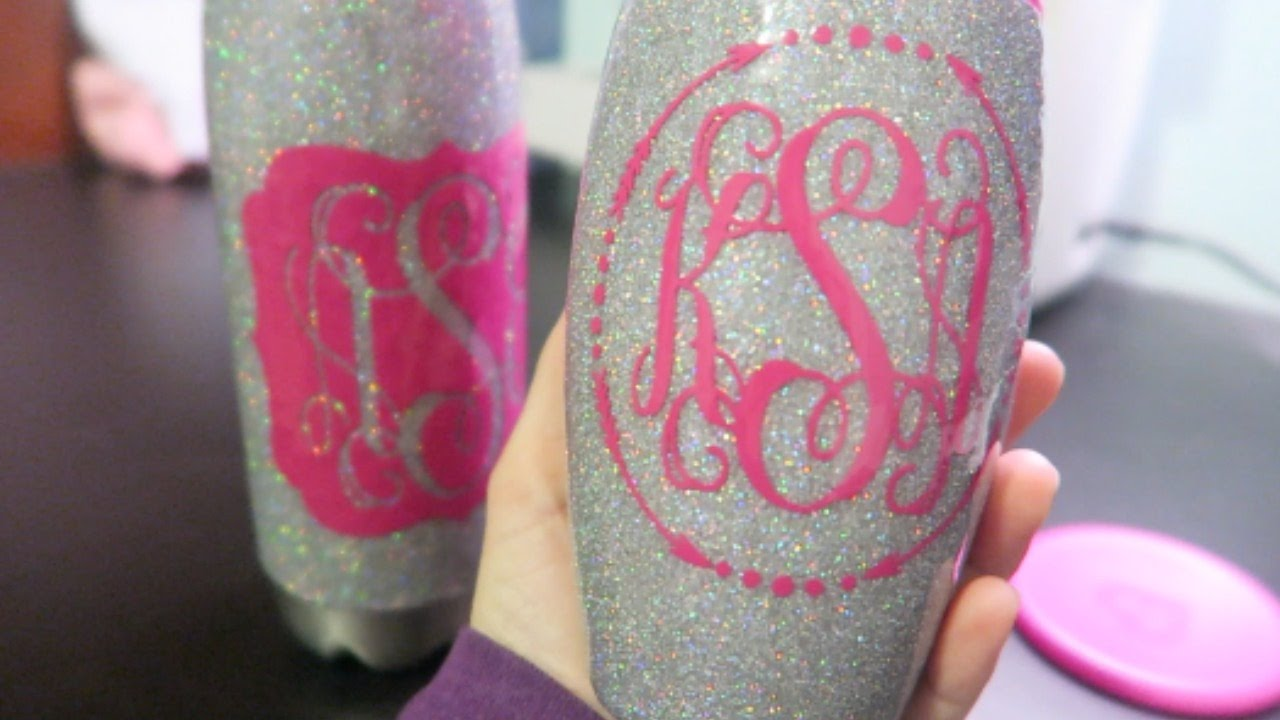 Diy Glitter Tumbler With Epoxy Youtube