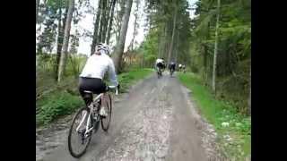 Umfahrung Wallgau - Schiebepassage beim Achensee-Radmarathon 2014