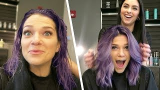 Dying My Hair Purple!!
