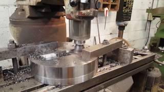"Making a 13.25"" 336mm TREPANNING TOOL to cut through 20"" long steel bar."
