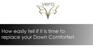 How to tell if it is time to replace your Down Comforter. www.verolinens.com