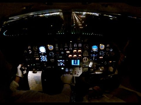 Night ILS  approach at Doha, Qatar - cockpit view with ATC!