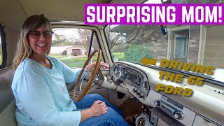 SURPRISING My Mom With Her DAD'S 1965 Ford F100 *No More Exhaust Leaks*