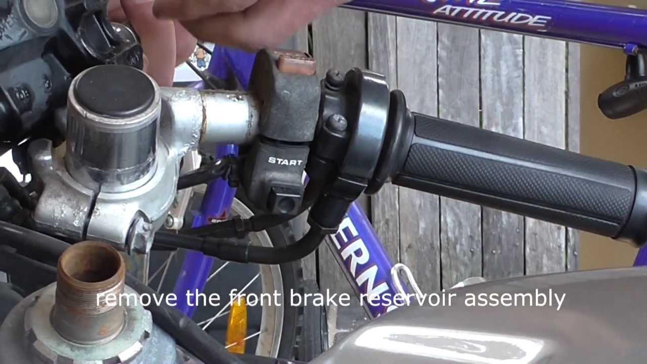 Remove a handle bar on a cbr 250rr